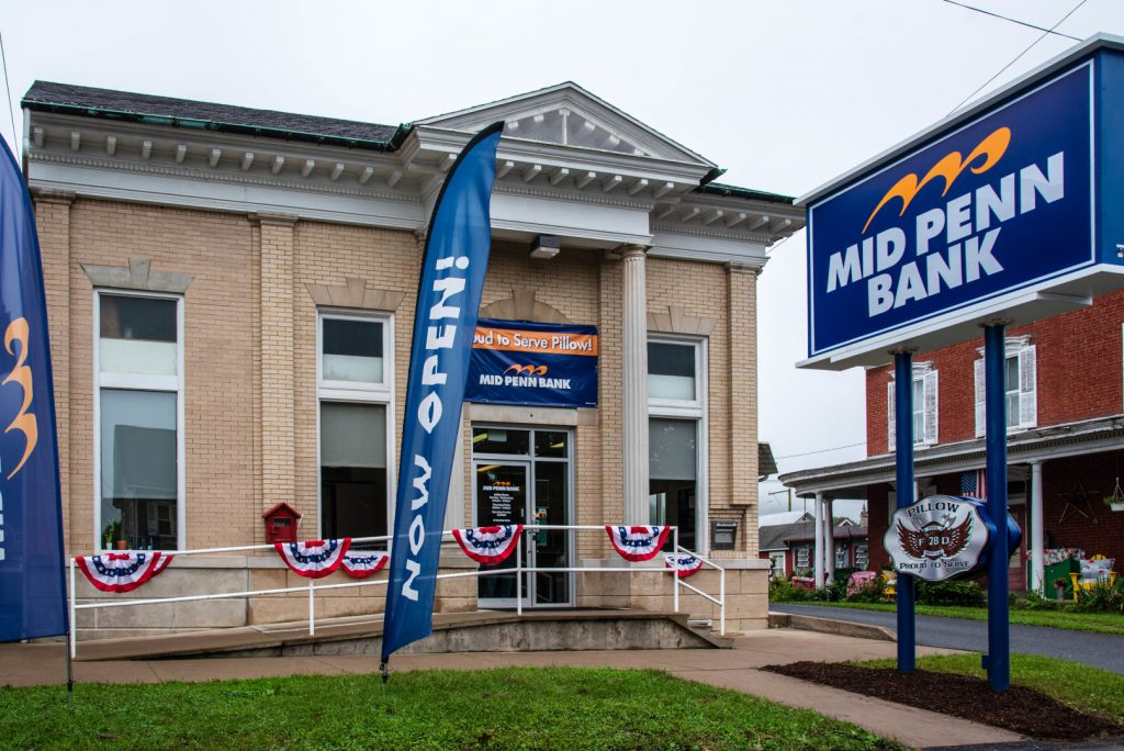 Mid Penn Bank Pillow PA Branch Exterior