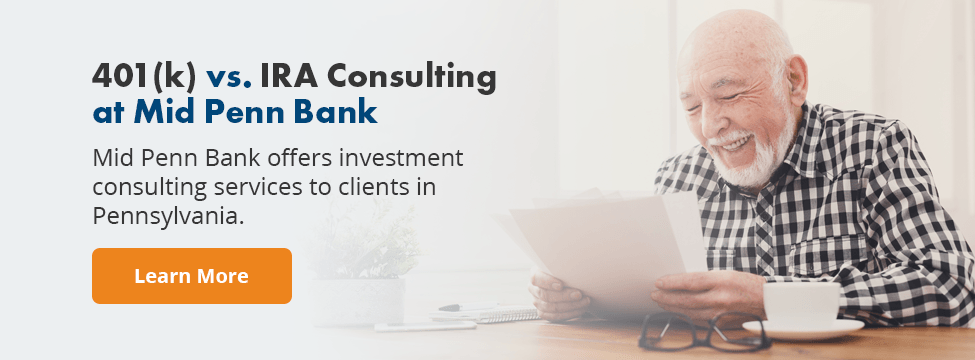 Retirement Account Consulting at Mid Penn Bank