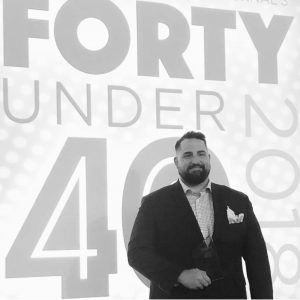 Jesse at the 2018 CPBJ Forty Under 40 awards