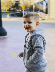 Jesse's 2 year old son, Lucas