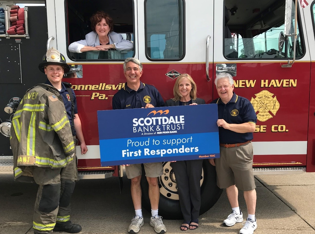 Scottdale Bank support First Responders