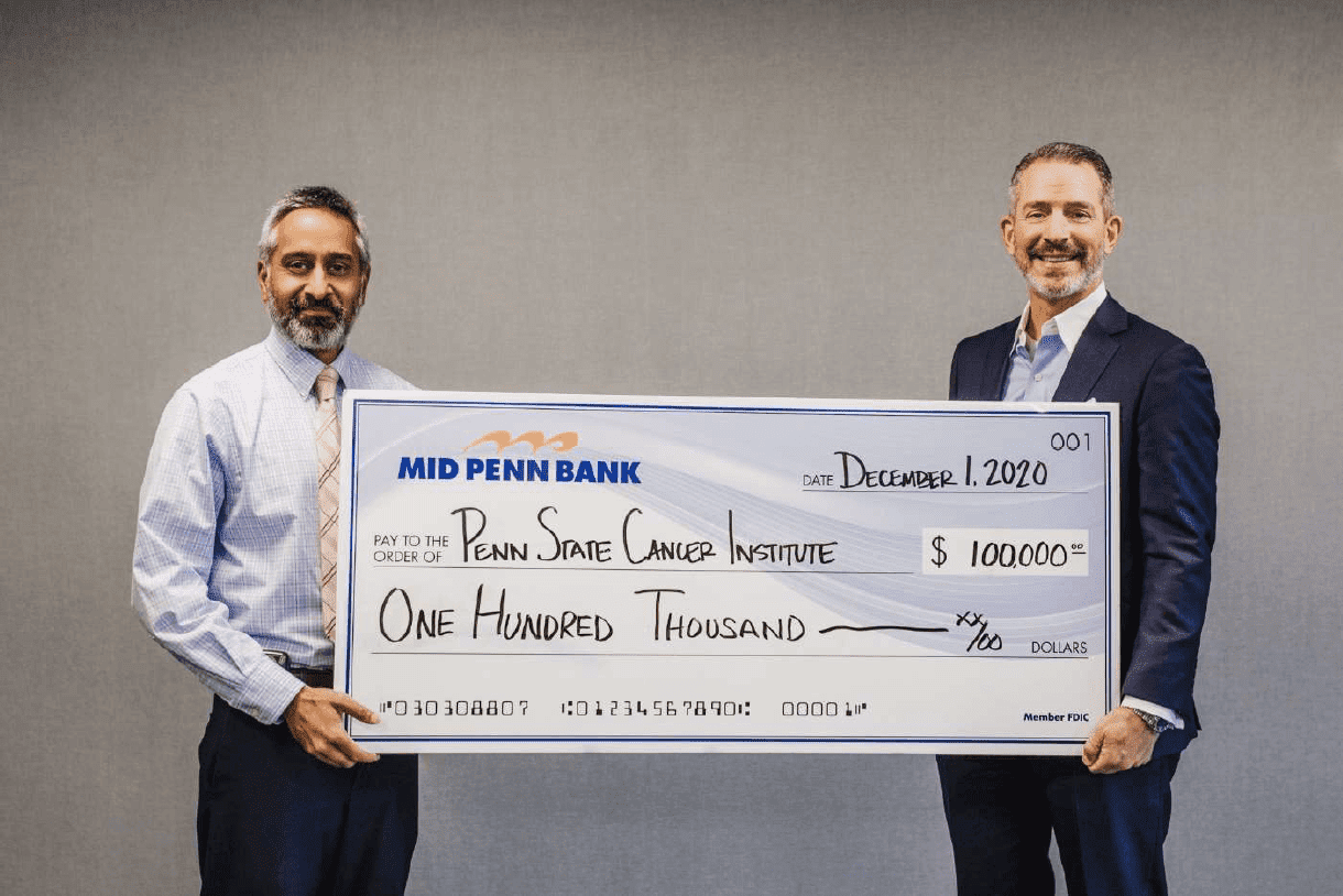Penn State Cancer Institute Donation from Mid Penn Bank 2020