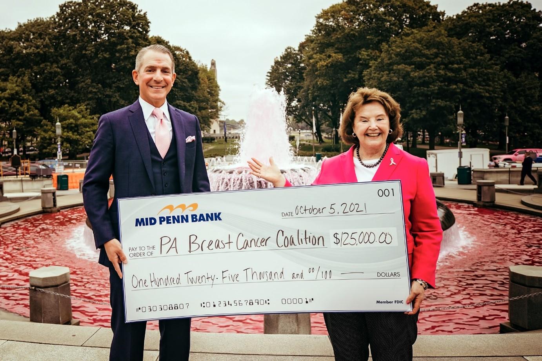 PA Breast Cancer Coalition Donation Check
